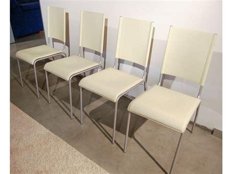 sedie occasione sedie cuoio beige occasione