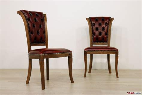 sedie a sedia classica con lavorazione capitonn 232 sullo schienale