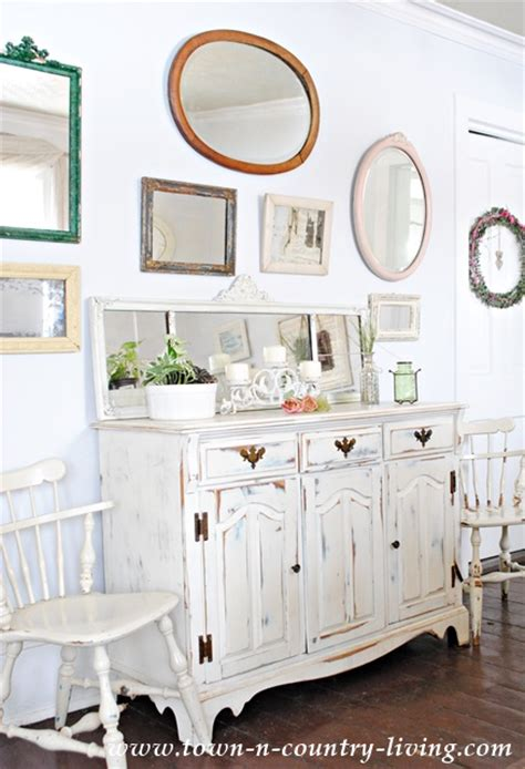 country mirrors living room vintage mirrors in my dining room town country living