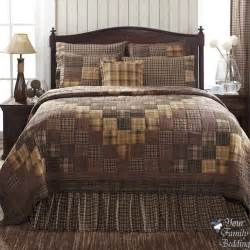 country rustic brown plaid patchwork cal king