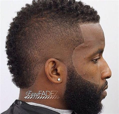 curly mohawk beard clean frohawk with nice beard work black men haircuts