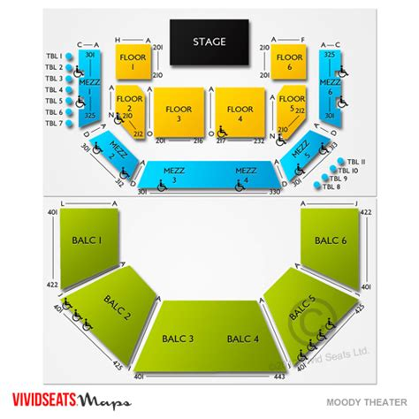 moody theater seating chart city limits live at the moody theater tickets the