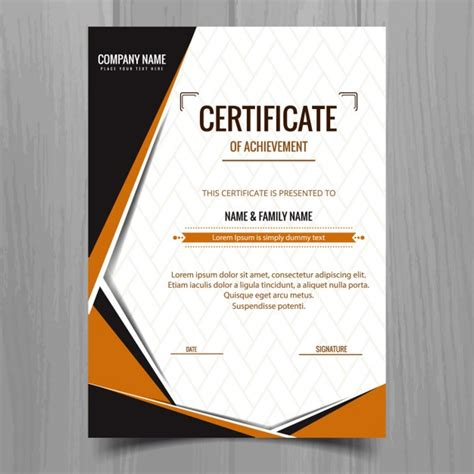 certificate design elegant elegant geometric certificate template vector free download