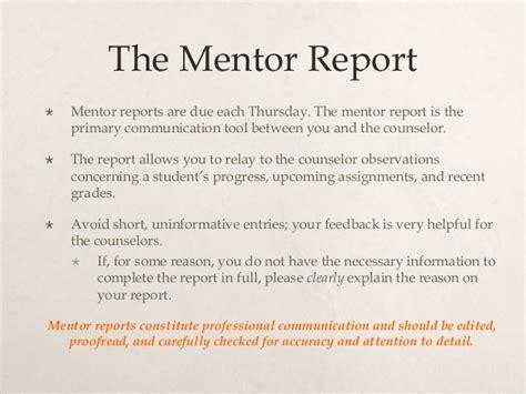 Mentoring Report Template