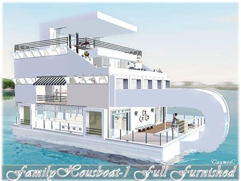 Kitchen Layout With Island Tugmel S Modern Houseboat 01 Full Furnished