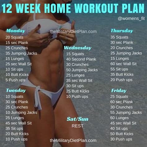 12 week no home workout plan diet
