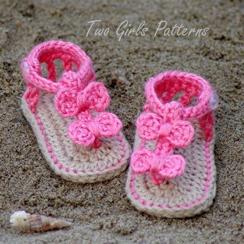 crochet baby sandals pattern crochet pattern 211 baby sandal 2 versions by twogirlspatterns