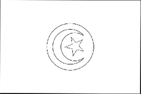 tunisia flag coloring page