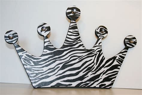 crown decor princess crown wall decor zebra decor zebra princess crown