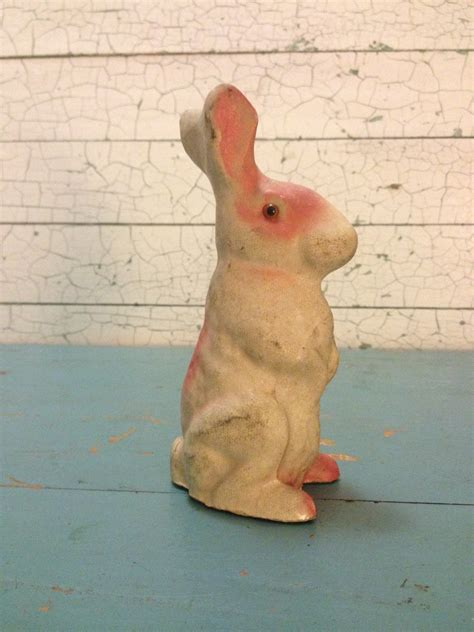 antique easter bunny rabbit paper mache primitive