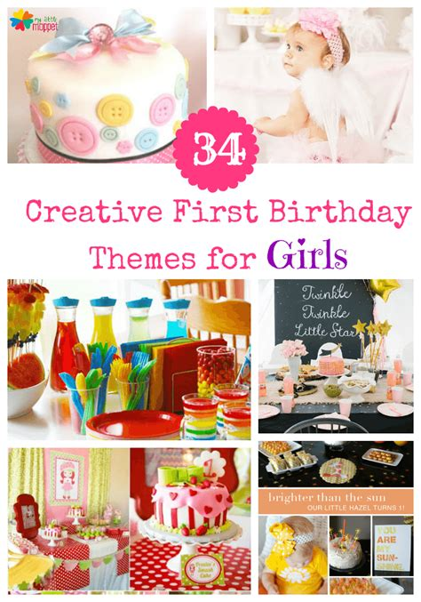 themes for girl 1st birthday party little girl 1st birthday party themes