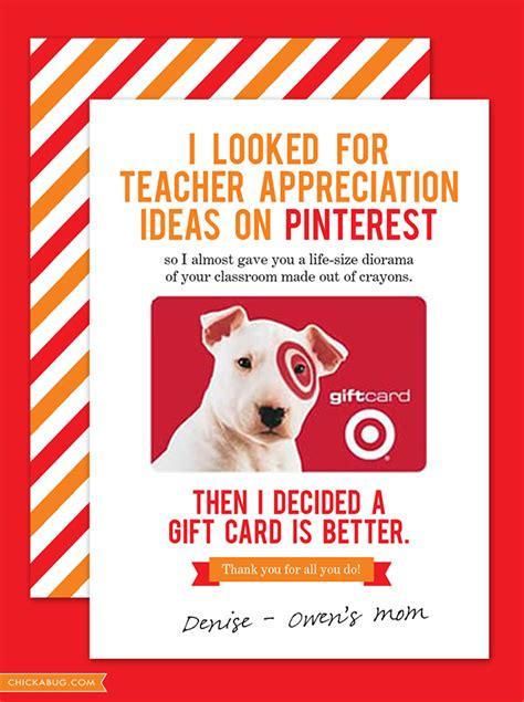 Gift Card For Teacher - free teacher appreciation cards chickabug
