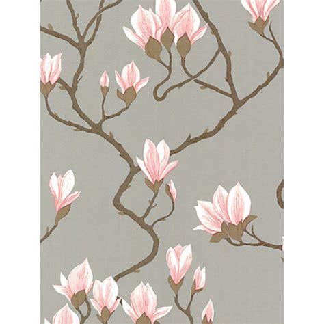 pink wallpaper john lewis buy cole son magnolia wallpaper silver pink 72 3010