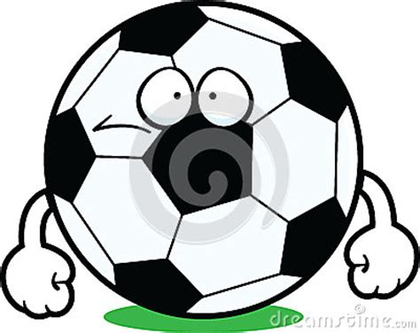 cartoon soccer ball sad stock vector image