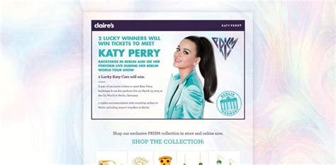 Katy Perry Sweepstakes - claire s meet katy perry in berlin sweepstakes at clairesandkatyperry com