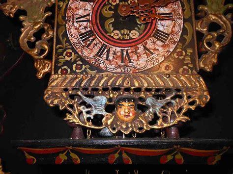 sgabello olandese raro e grande orologio olandese a sgabello funzionante
