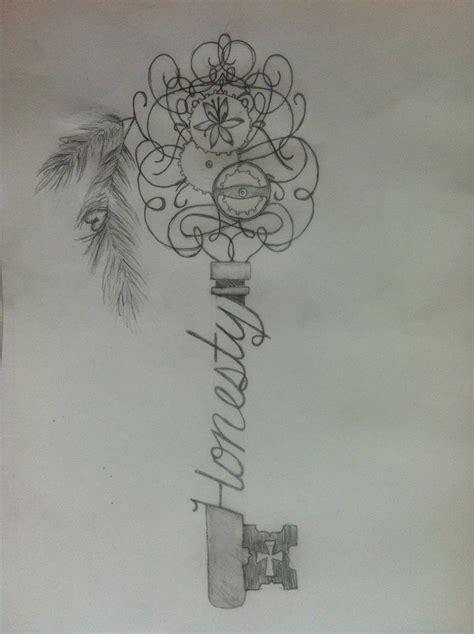 honesty tattoo designs skeleton key sketch honesty tattoos tattoos