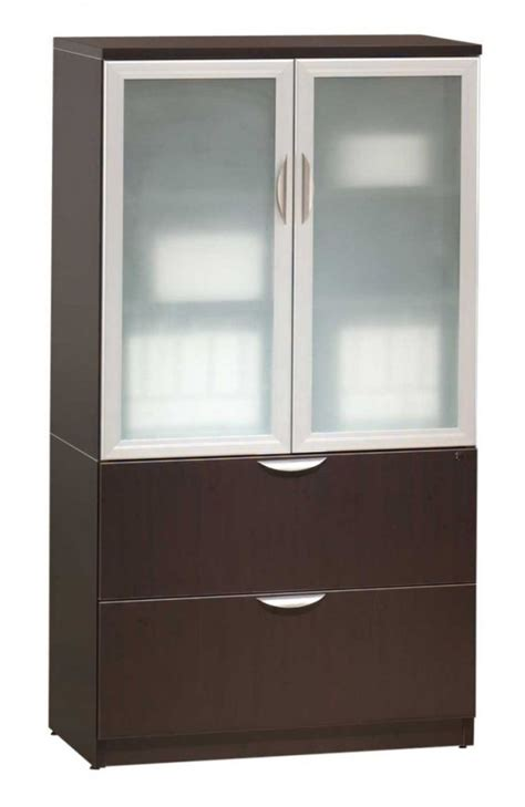 Wood Cabinet With Glass Doors Wood Storage Cabinets With Glass Doors Home Furniture Design