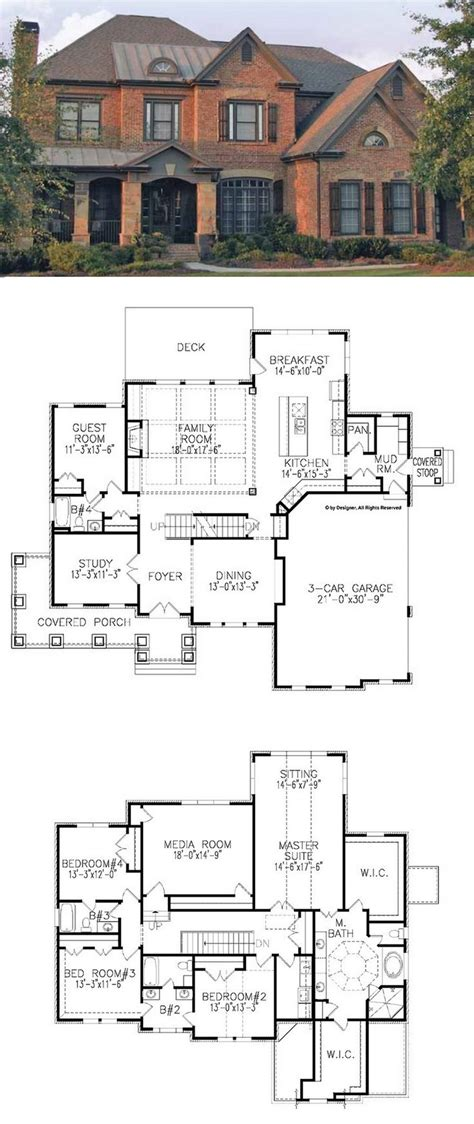 traditional house plan with 3962 square and 5