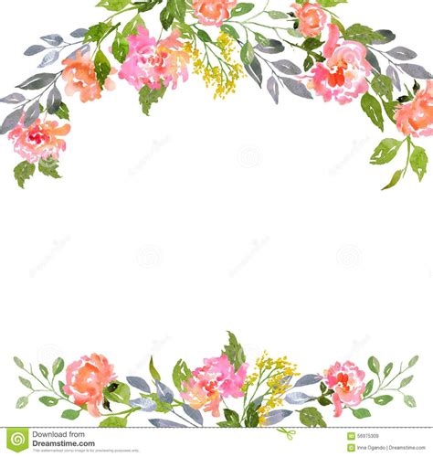 Template That Says Cards Glowers by Watercolor Floral Card Template From 43