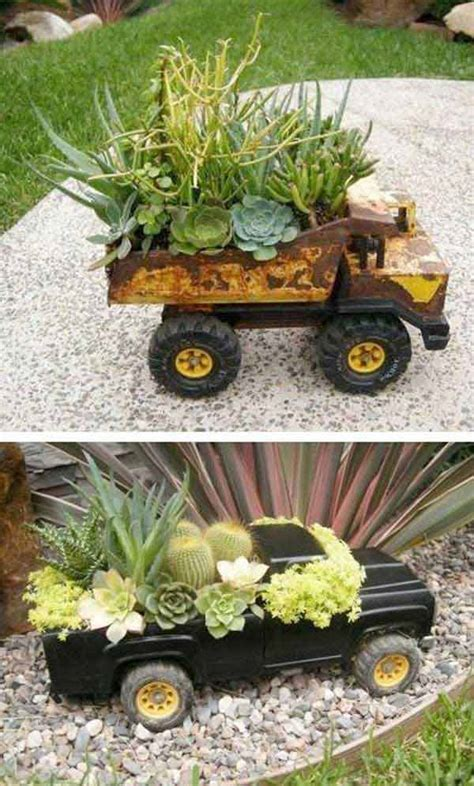 outdoor planter ideas top 30 stunning low budget diy garden pots and containers