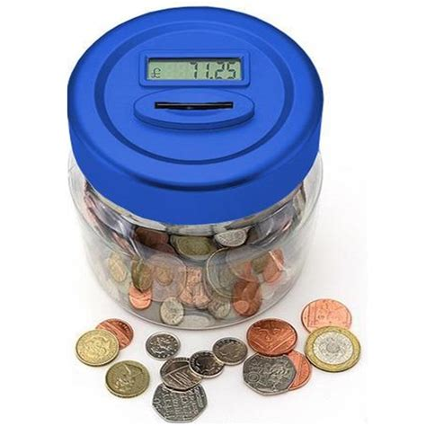 Piggy Bank With Digital Display by Uk Pound Lcd Display Digital Coin Counting Jar Piggy Bank