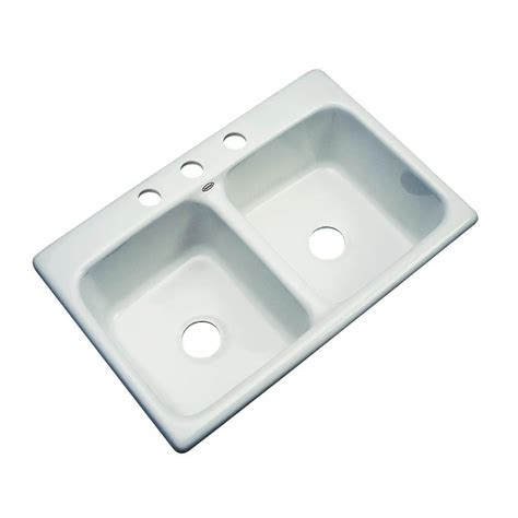 acrylic kitchen sink reviews thermocast newport drop in acrylic 33x22x9 4