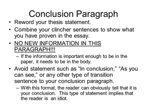 How To Write Essay Conclusions by How To Write An Essay Conclusion Paragraph