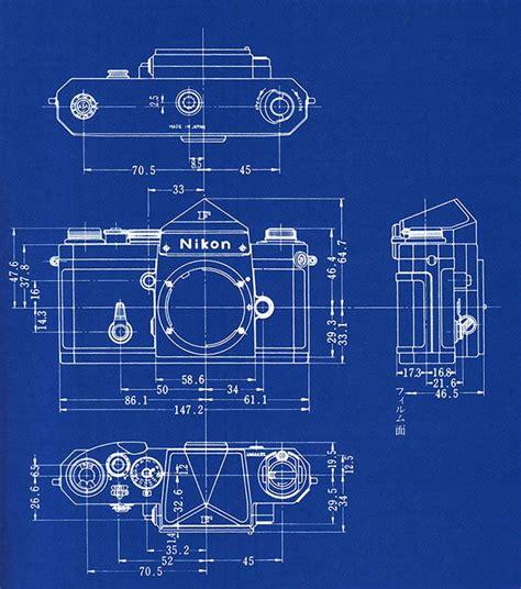 film blueprint shooting film blueprints of nikon f slr camera cameras