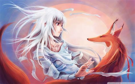 Anime Fox by Anime Fox Wallpapers Wallpaper Cave