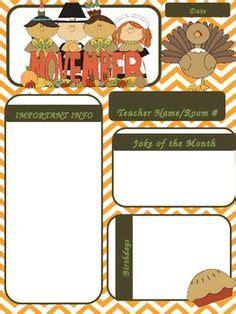printable newsletter templates for teachers thanksgiving newsletter