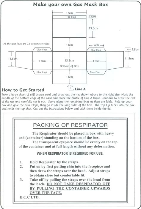 gas mask template template of a gas mask box search activities