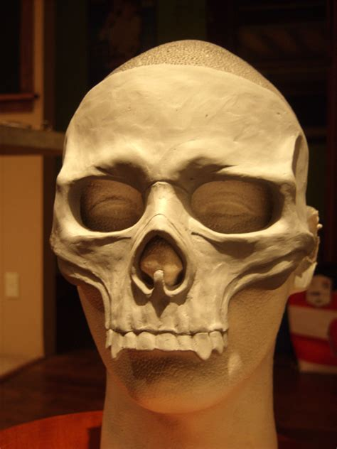 How To Make A Skull Mask Out Of Paper - skull mask blank by ravenkingrelics on etsy