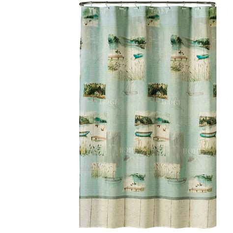 saturday knight shower curtains saturday knight lake retreat 70 in w x 72 in l fabric