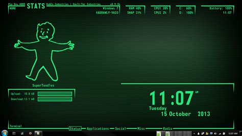 theme windows 10 fallout pip boy 4000 1366x768 back in development by kabrawly on