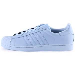 adidas superstar supercolour mens light blue trainers new