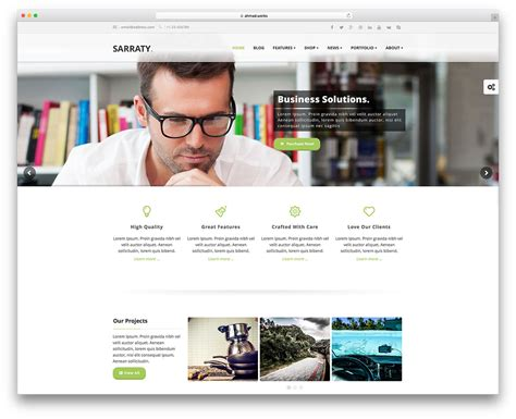 Best Wordpress Corporate Business Themes Multipurpose Designscanyon Business Site Template
