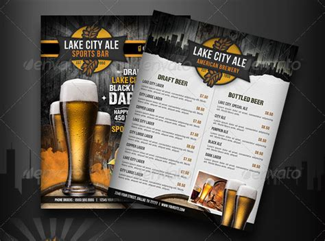 sports bar menu template 19 free premium restaurant flyer templates psd desiznworld