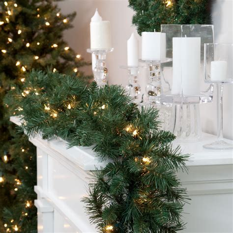 classic pine 9 ft pre lit garland christmas garland at
