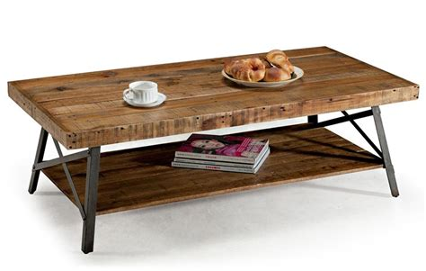 the whimsicallity of rustic wood and metal coffee table