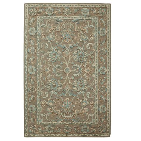 area rugs home decorators home decorators collection trinity grey seagreen 8 ft x