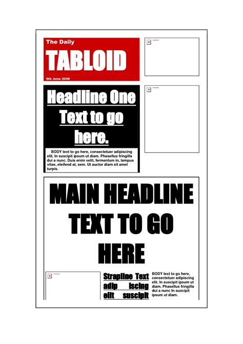 tabloid template best photos of broadsheet newspaper format tabloid