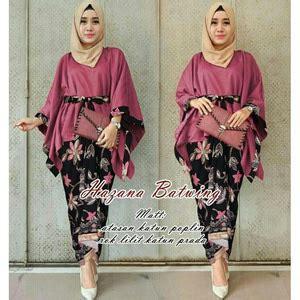 Setelan Baju Muslim Baju Atasan Rok Maxi Panjang Stelan Set St baju kebaya muslim desain modern model terbaru murah