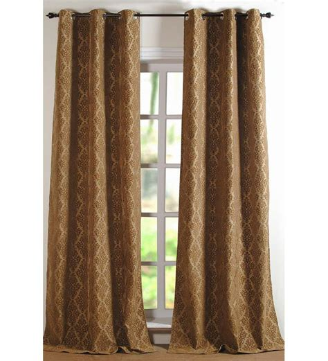 curtains for 9 ft wide window deco essential dark beige damask long door curtain