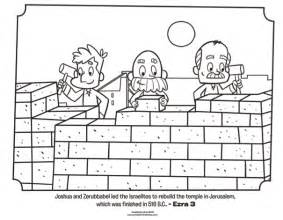 israelites rebuild jerusalem coloring page whats in the