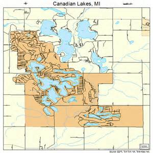 canadian lakes michigan map 2613010