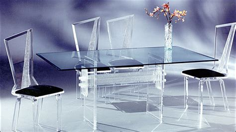 acrylic dining room set acrylic 6pc dining set