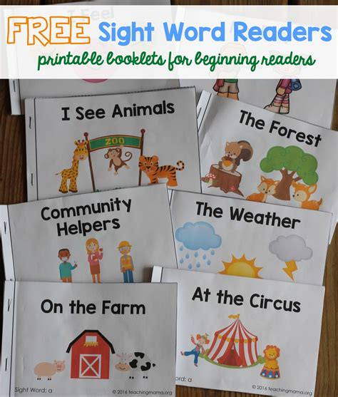 sights books sight word readers