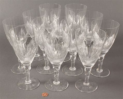 Glassware Stemware Lot 369 Stuart Coronation Pattern Stemware 26 Pieces