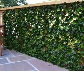 garden trellis screening artificial extendable hedging garden screening autumn